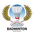 Badminton Championship vector image vector image