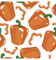 bell pepper paprika seamless pattern on white vector image vector image