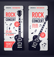 black rock concert ticket design template vector image
