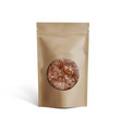 blank brown paper bag with coffee beans in vector image vector image