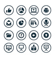 Business icons universal set vector image vector image