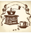 caffe set vector image vector image