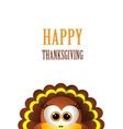 card for thanksgiving day turkey on white vector image vector image
