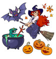 cartoon halloweens set characters and objects vector image