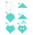 cat kitty origami lets play vector image vector image