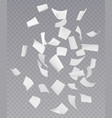chaotic falling flying paper sheets vector image vector image