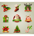 Christmas icons objects collection vector | Price: 5 Credits (USD $5)