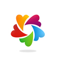 circular heart love color logo vector image