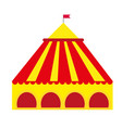 circus pavilion yellow tent icon flat style vector image
