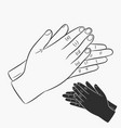 clapping hands applause vector image