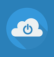 Cloud Computing Flat Icon Power Button vector image vector image