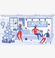 colleagues friends celebrate christmas or new year vector image vector image