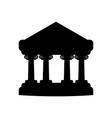 contour ornamental bank architecture to design vector image