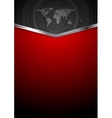 Contrast red black technology background vector image vector image