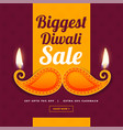 creative design of diwali sale banner vector image vector image