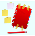 Daily and pensil and scotch vector image vector image