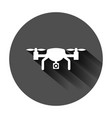 drone quadrocopter icon in flat style quadcopter vector image