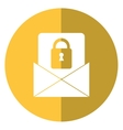 email message security system technology shadow vector image vector image