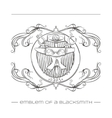 Emblem Of a Blacksmith vector image