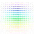 exit arrow shape halftone spectrum grid vector image vector image
