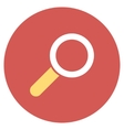 Find Flat Round Icon vector image vector image