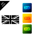 flag great britain icon isolated uk flag sign vector image vector image