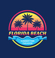 florida beach - concept vector image