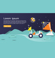 flying and exploring on planet infographic flat vector image vector image