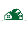 fresh green home group vector image