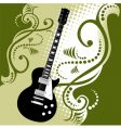 guitar floral vector image vector image
