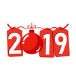 happe new year gold background isolated 2019 vector image vector image