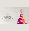 happy new year 2019 card christmas tree triangle vector image vector image