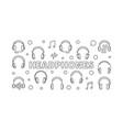 headphones horizontal or vector image