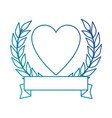heart with ribbon icon vector image