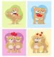 i love you and me teddy bears vector image vector image