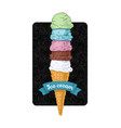 ice cream tower vector image vector image