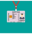 Id card with lanyard national identity vector image vector image