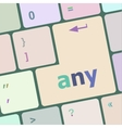 Keyboard with white Enter button any word on it vector image