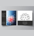 layout two square cover templates vector image vector image