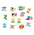 letter z alphabet symbols vector image vector image