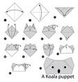 make origami a koala puppet vector image