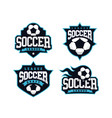 modern professional soccer logo set for sport team vector image vector image