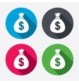 Money bag sign icon Dollar USD currency vector image vector image