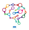 multicolor connection brain creative concept of vector image vector image