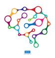 multicolor connection brain creative concept of vector image