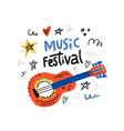 music festoval vector image vector image