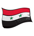 painted syria flag waving in wind vector image vector image