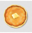 pancake isolated with butter transparent vector image vector image