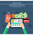 Pay per click internet advertising model vector image