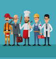 people group men labor day celebration vector image